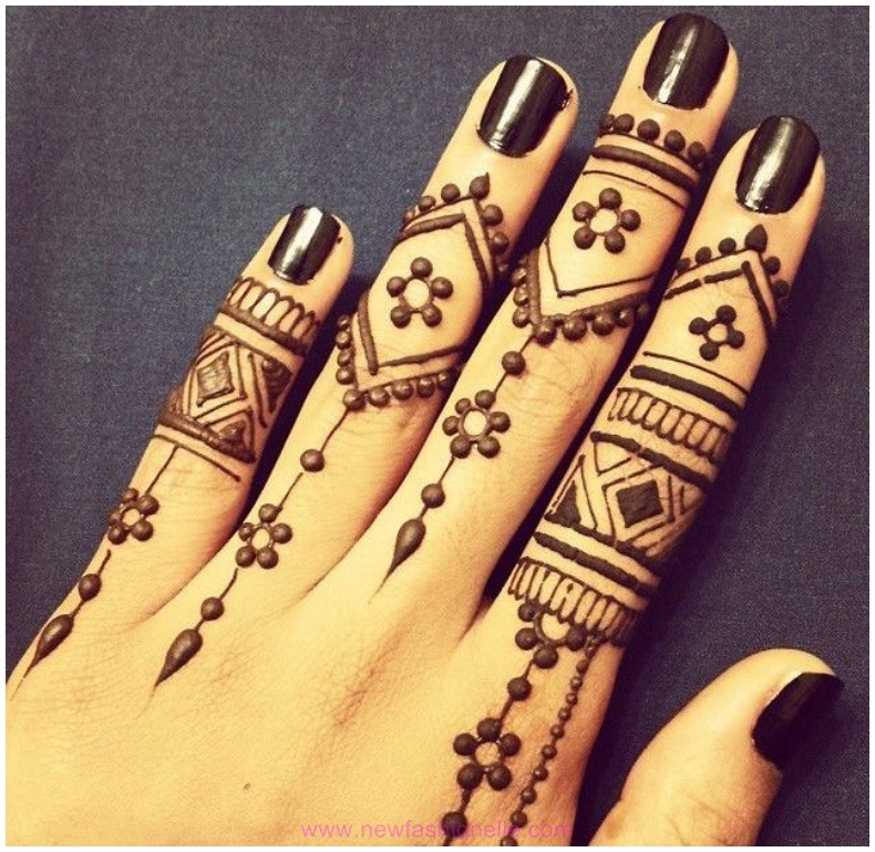 Finger Mehndi Designs HD pictures