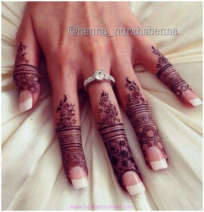 Mehndi Fingers Designs 2016 : Finger mehndi designs for brides newfashionelle