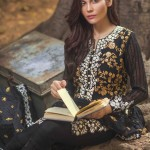 Mina Hasan Embroidered Chiffon Fabric Winter 2015-16