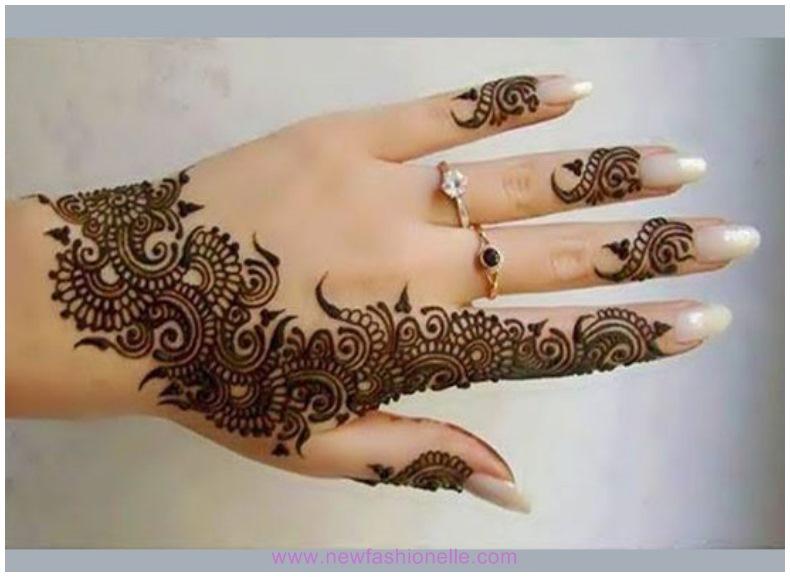 Fingers Mehndi Pics : Finger mehndi designs for brides newfashionelle
