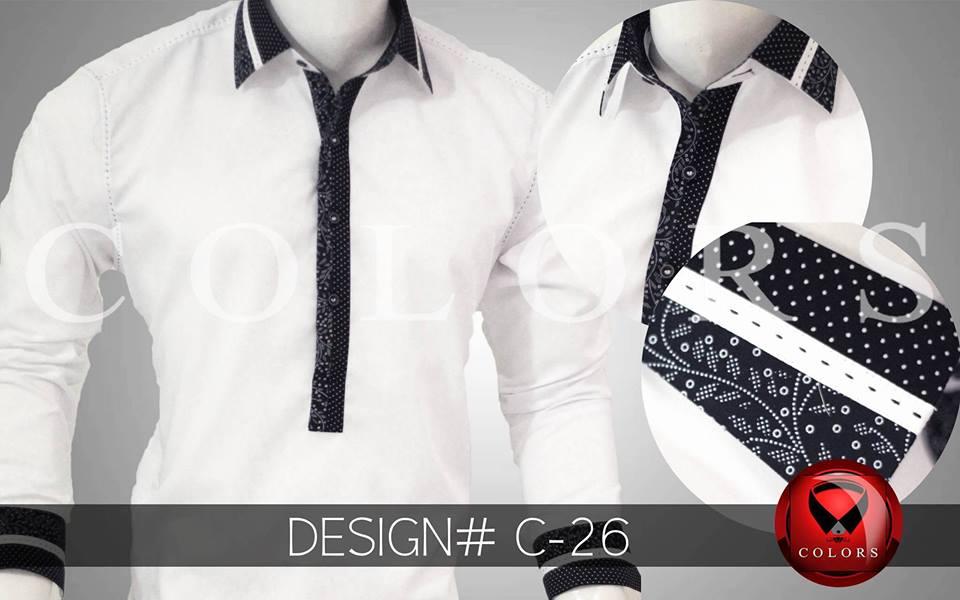 Shalwar Kameez Collar Neck Design 2018 by Colors
