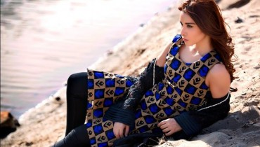 Zainab Hassan Stylish Vintage Dresses 2016 for Winter