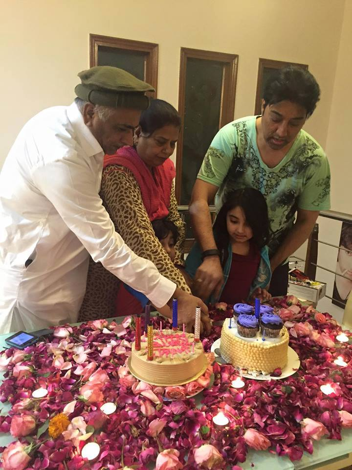 Cute Javeria Saud daughter Jannat birthday photos