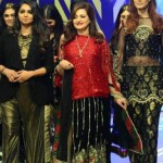 Fashion designer Saira Rizwan Party Dresses at Runway Pakistan 2016