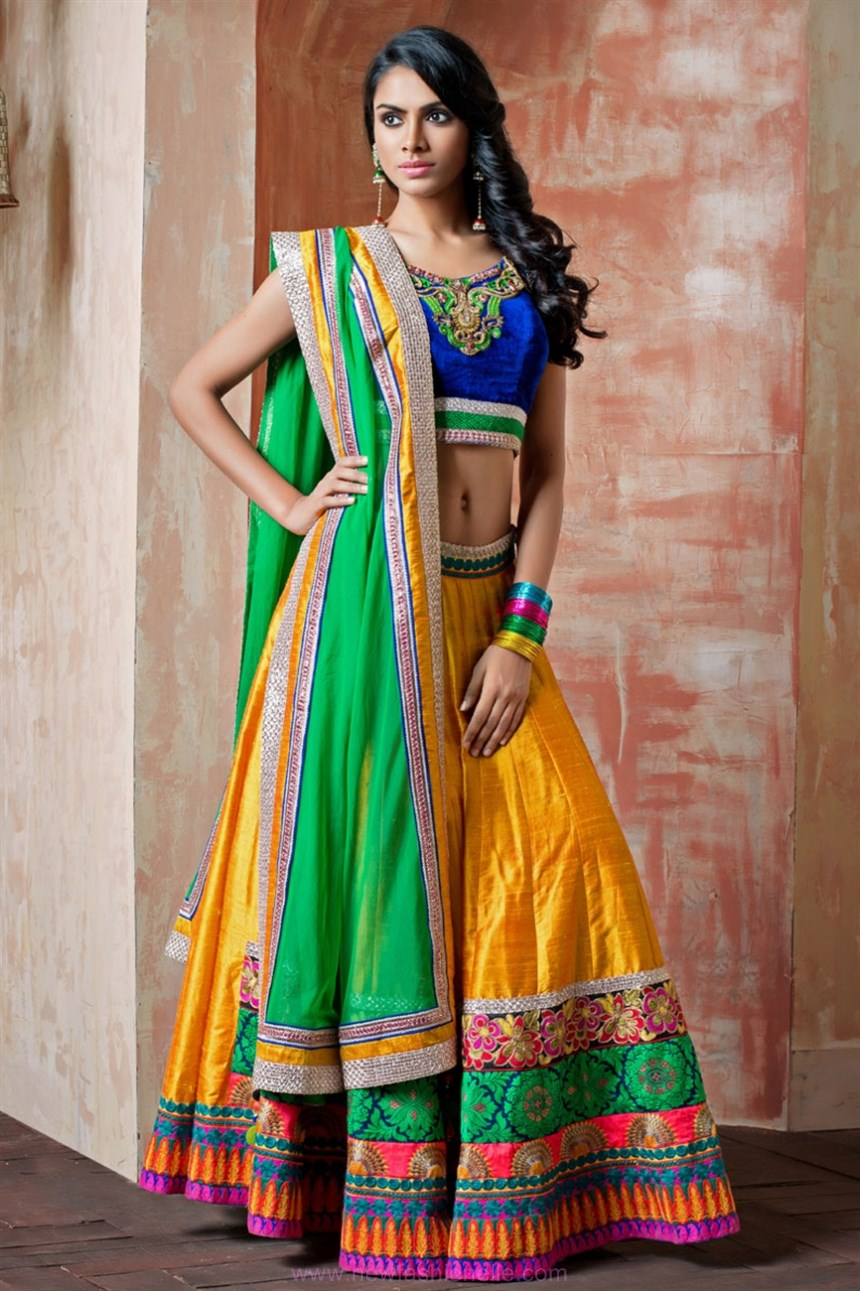Latest lehenga choli designs for teenagers