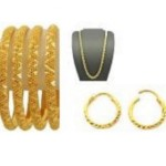 Jewellery Hut Gold Plated Bridal Set - Golden
