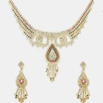 Jewellery Hut Set of Gold Plated Bangles, Earrings & 18K Gold Plated Chain