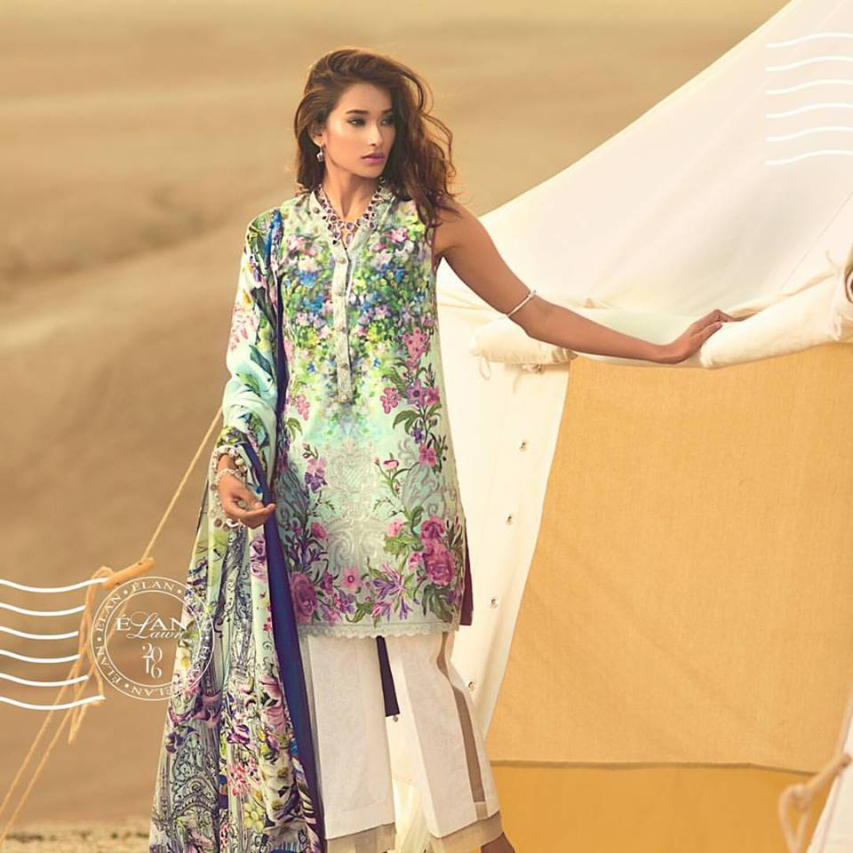 Elan Lawn 2016 Collection with Prices for Girls