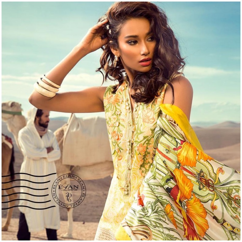 Elan Lawn Dress Spring.Summer Collection 2016