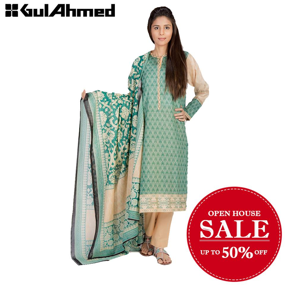Gul Ahmed Summer Lawn Open House Sale 2016