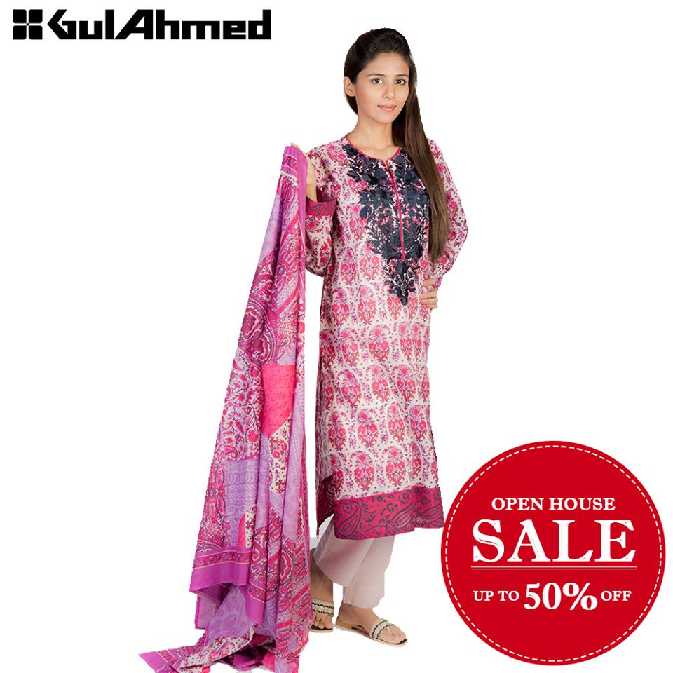 Gul Ahmed Open House Sale 2016 up to 70%