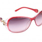 Skins Maroon Imitation Glass Sunglasses