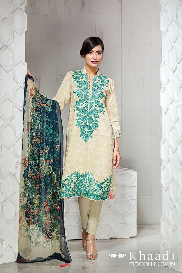 Women wear Khaadi Eid ul fitr Lawn 2016 2017