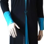 Diamante Abaya in Blue Color