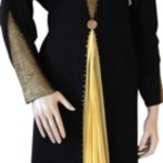 Full sleeve gold Abaya designs