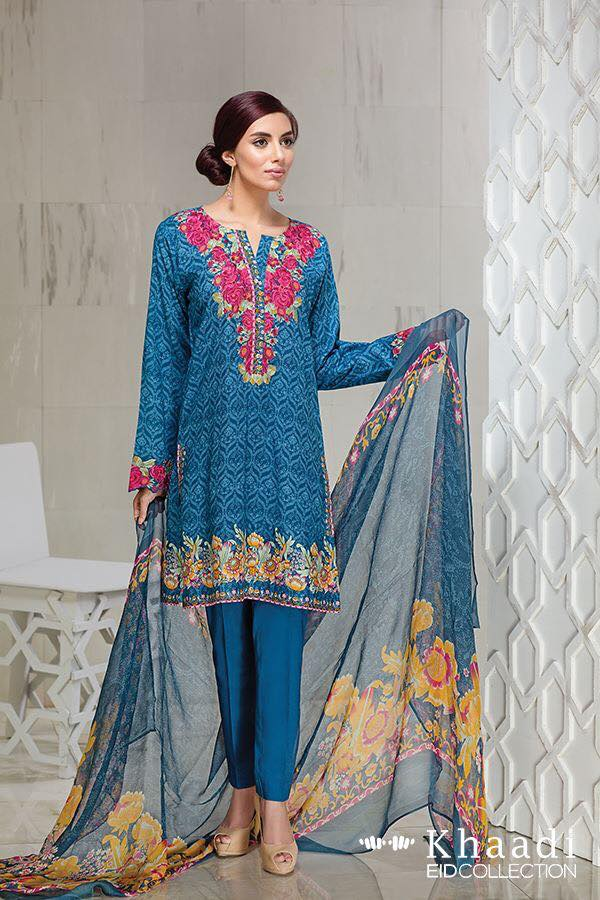 Khaadi Eid Collection 2016 with Dupatta