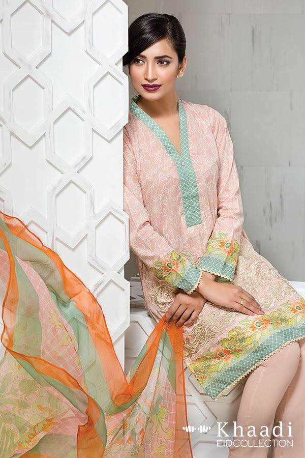 Khaadi Eid ul fitr Lawn Collection 2016 2017