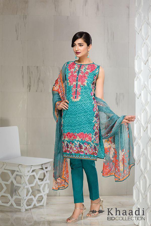 Khaadi Eid ul fitr Lawn Collection 2016