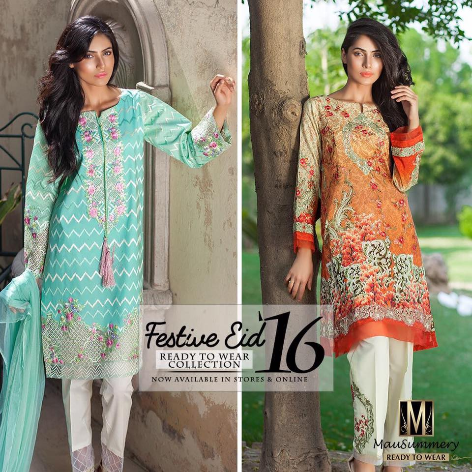Mausummery Festive Eid Ready to Wear Collection 2016-17