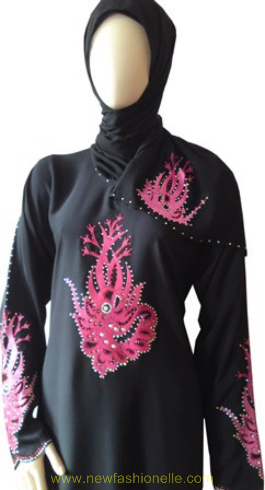 Pics of Abaya designs with Ston Work