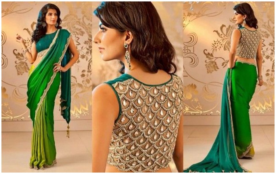 Easy saree blouse designs