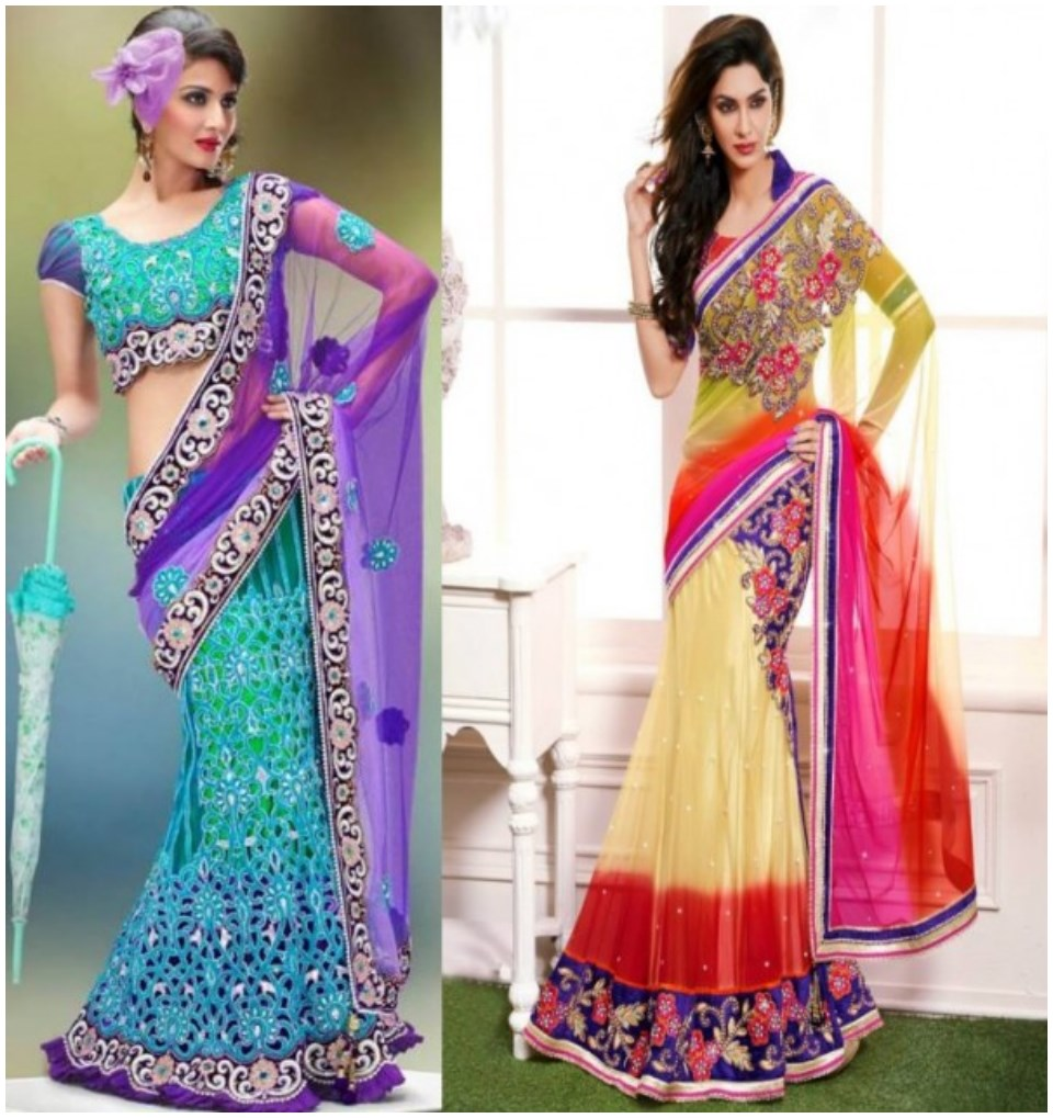 Shadi wedding saree designs