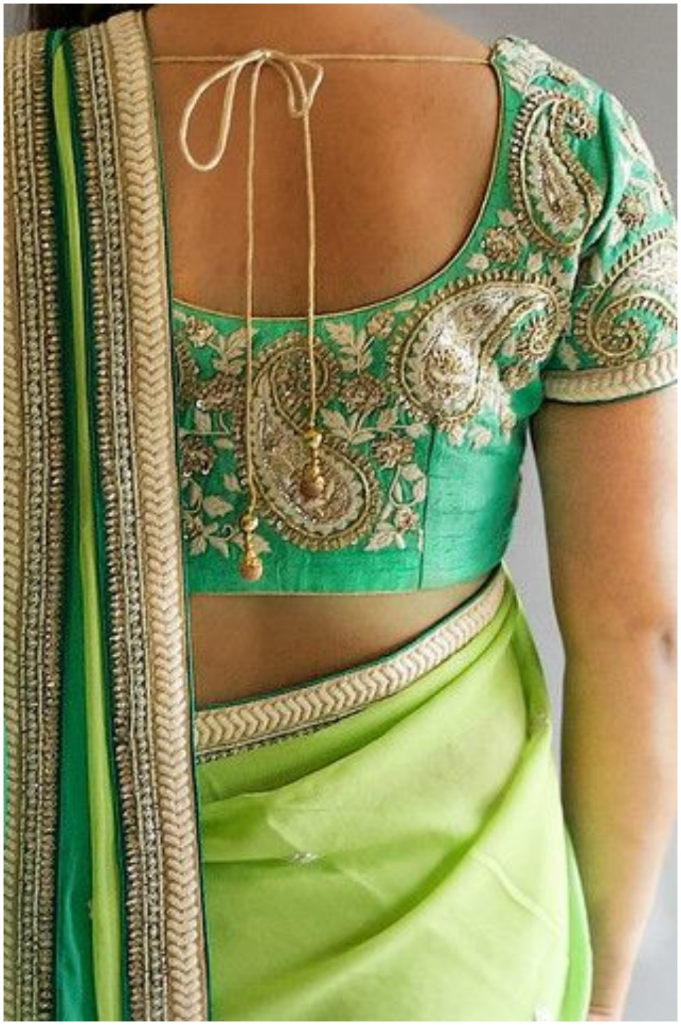 latest designer blouse pattern for saree