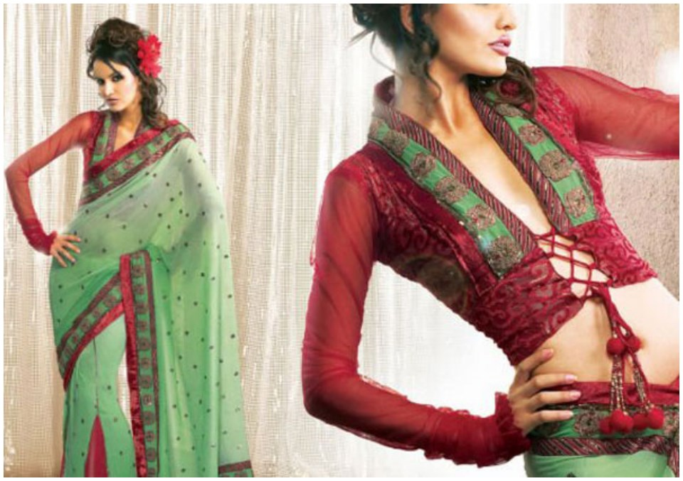 Lovely readymade saree blouses online