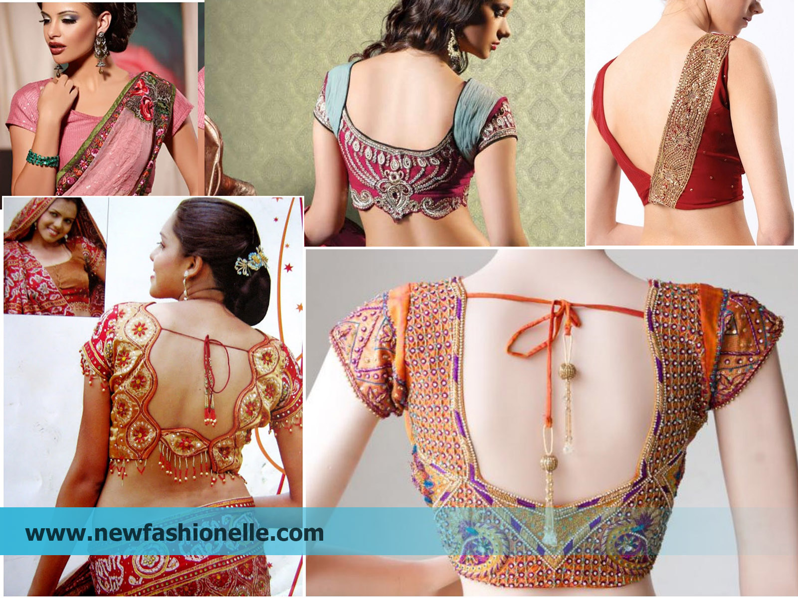 latest Bridal saree blouse design images photoss