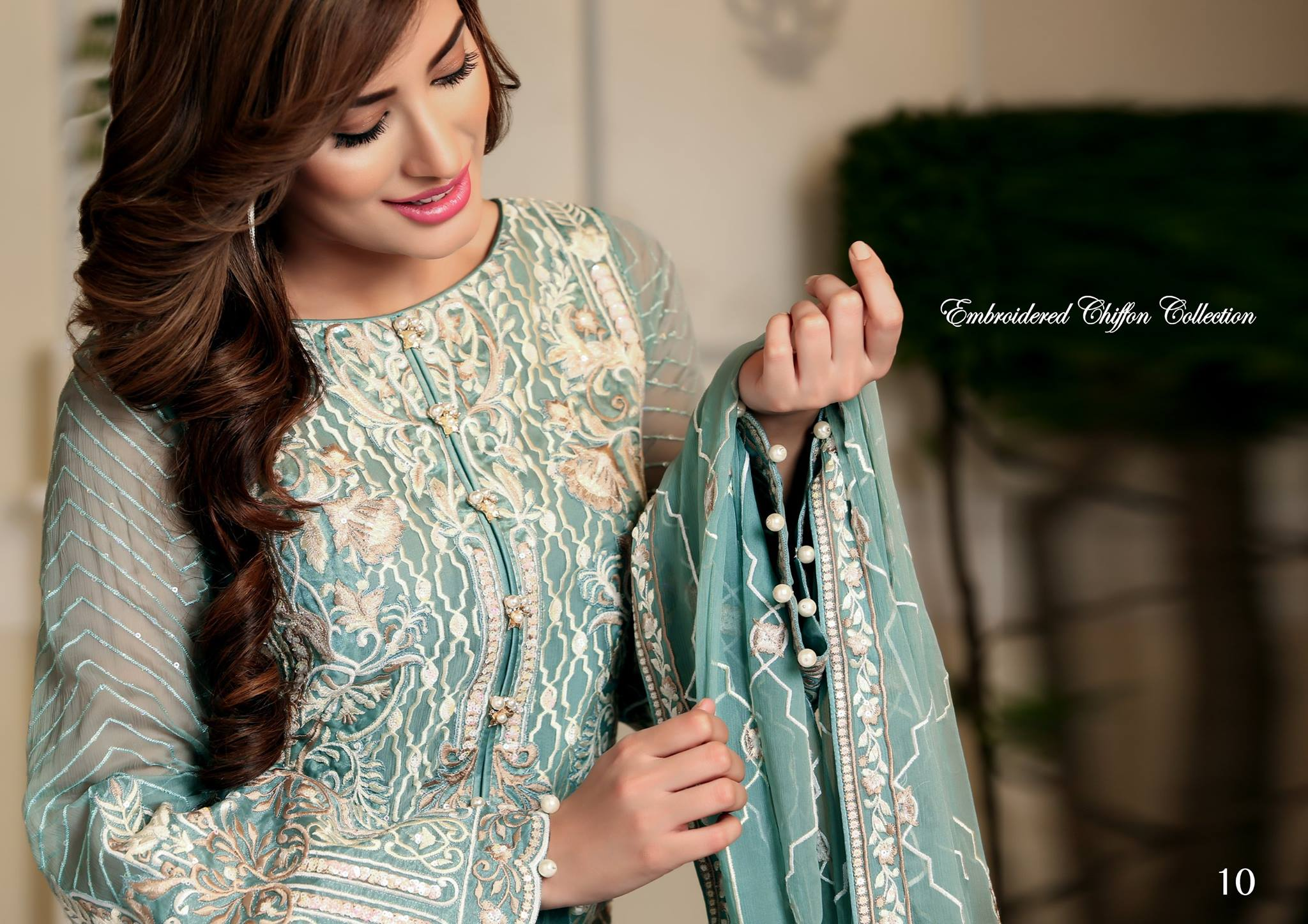 Beautiful Nomi Ansari Summer Chiffon Collection 2016 by Shariq Textiles
