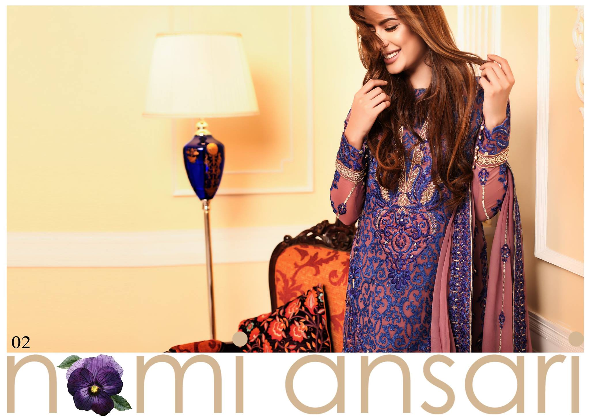Designer Nomi Ansari Chiffon Collection 2016 By Shariq Textile With Price