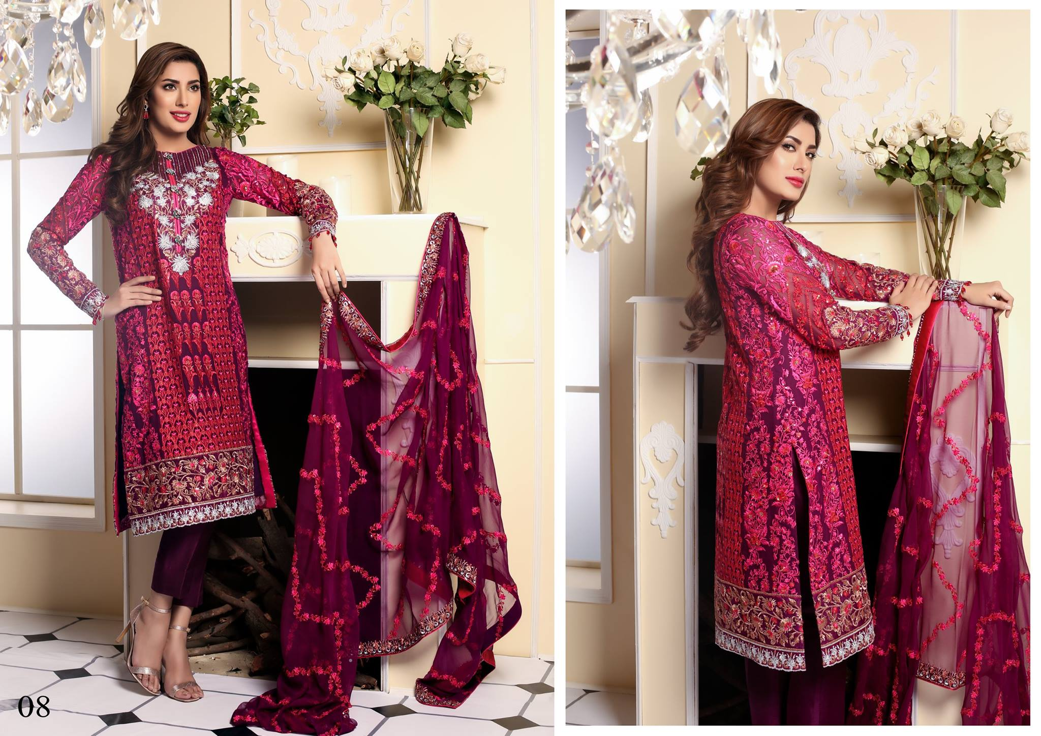 full vol of Nomi Ansari Summer Chiffon Collection 2016 by Shariq Textiles
