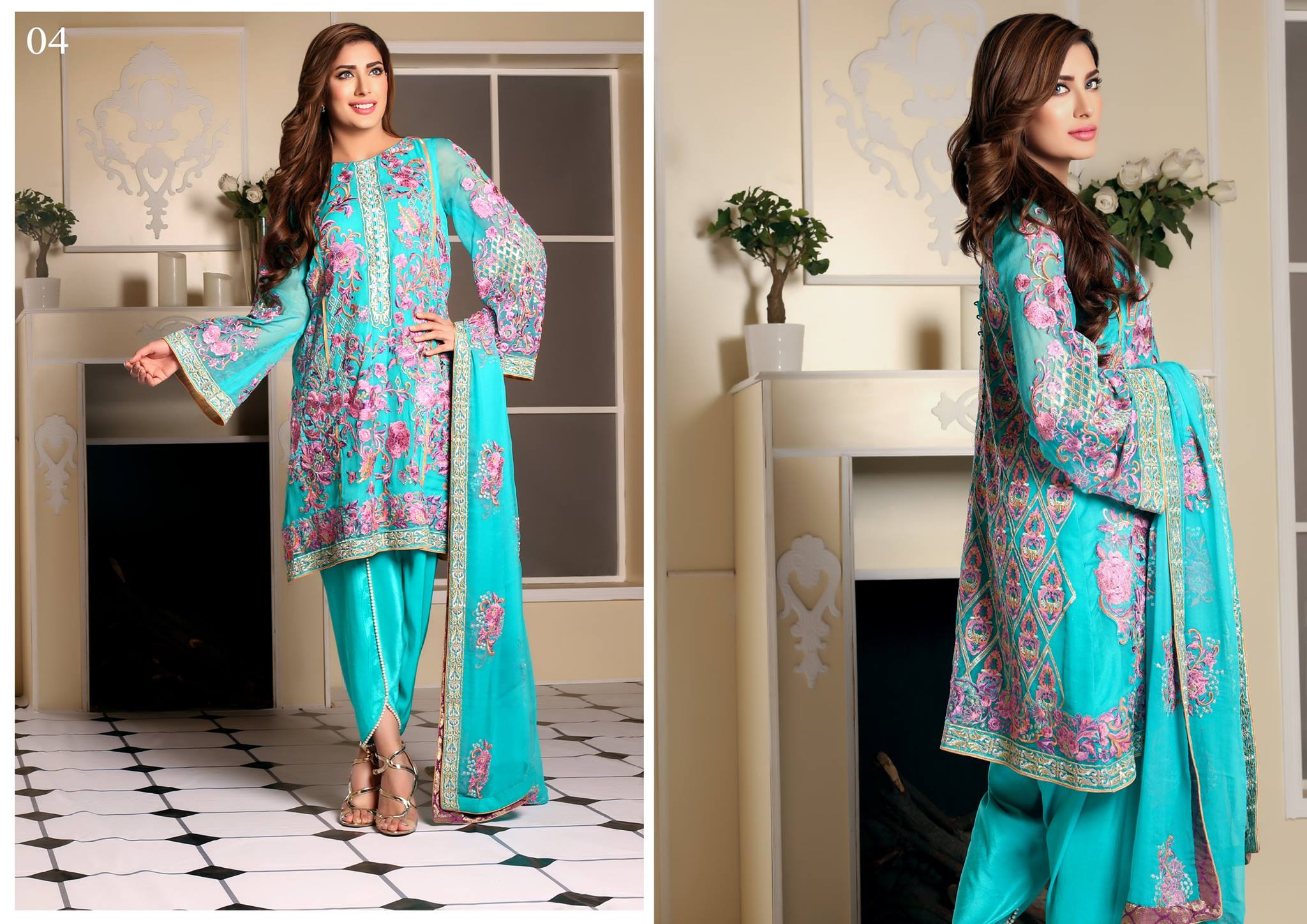 Awesome Nomi Ansari Embroidered Chiffon Collection 2016-2017 by Shariq