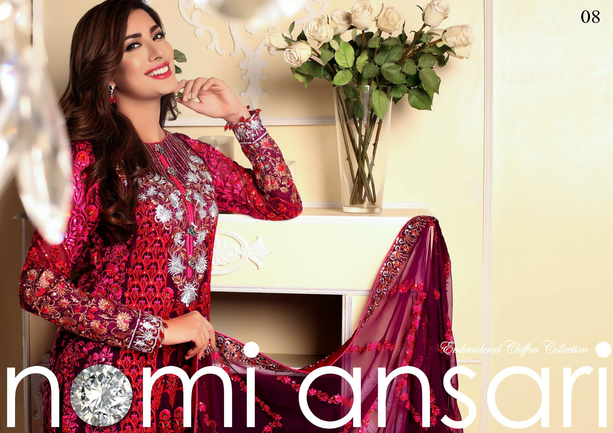Nomi Ansari Embroidered Chiffon Collection by Shariq Tex