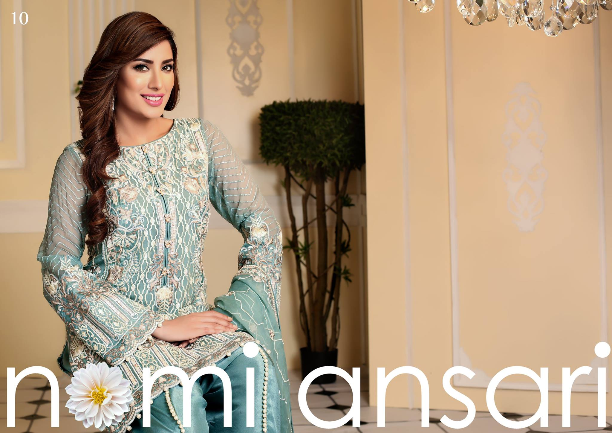 Shariq- Nomi Ansari Chiffon Collection 2016-2017