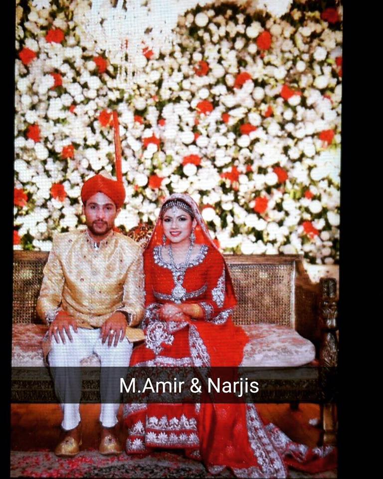 Pakistani Cricketer Mohammad Amir Mehndi Wedding Pictures