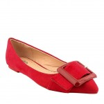 Red booties for women