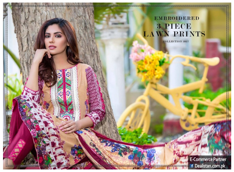 Falak Fabrics 2017 spring summer lawn collection (9)