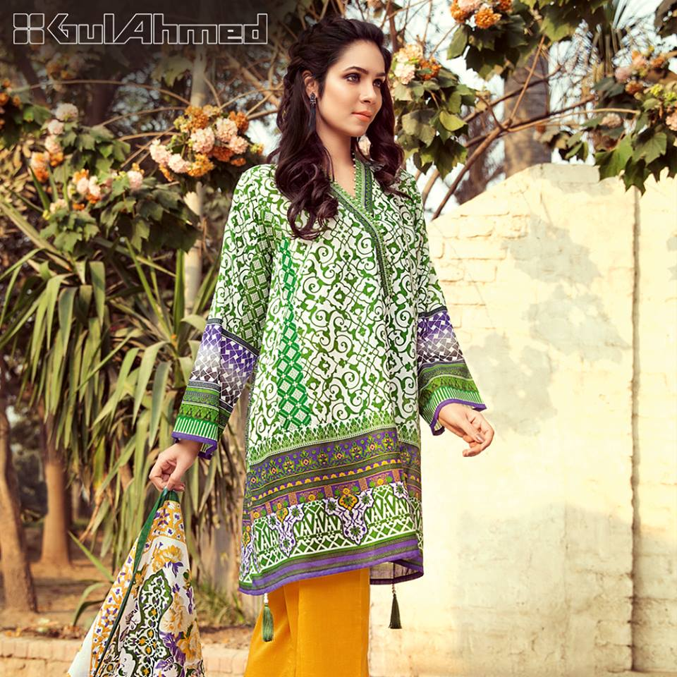 Gul Ahmed Three Piece Lawn Spring Summer Collection 2017 (3)