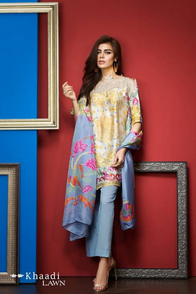 Khaadi Lawn Spring Embroidered Collection 2017 Volume (20)