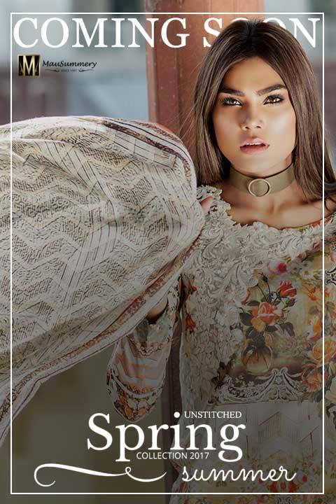 Mausummery Spring Summer Lawn (Pre-Book) Collection 2017 for