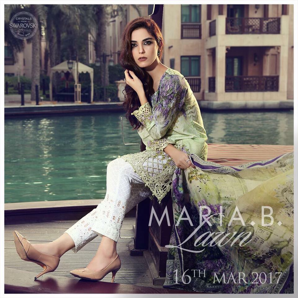 18421aab46 Stylish Maria.B Spring Summer Lawn Collection 2018 2019 | NewFashionElle