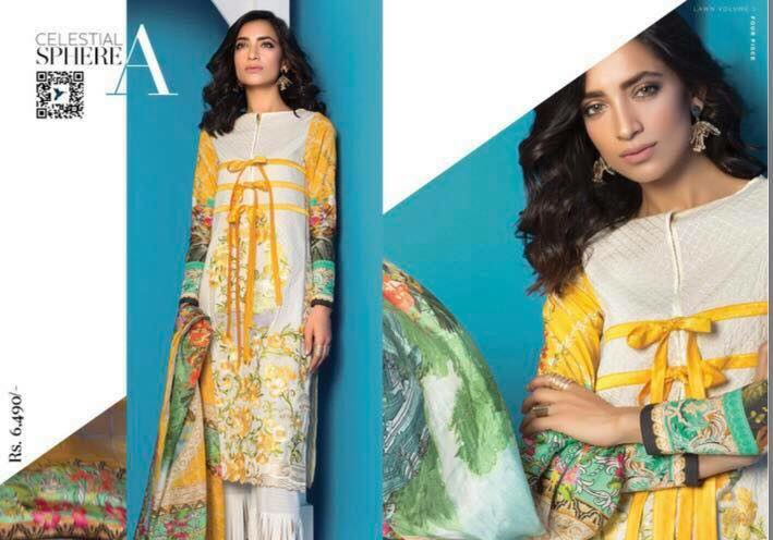 Sapphire Lawn Range Eid Edition 3 Piece Suit 2017 for Women (8)
