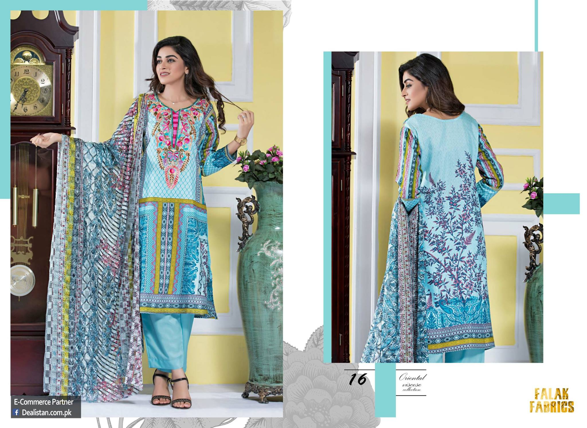 Falak Fabric Lawn Vintage Collection 2017 (2)