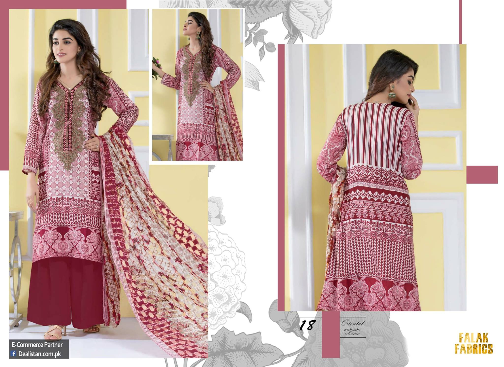 Falak Fabrics Classical embroideries Oreiental Viscos Collection 2017 (4)