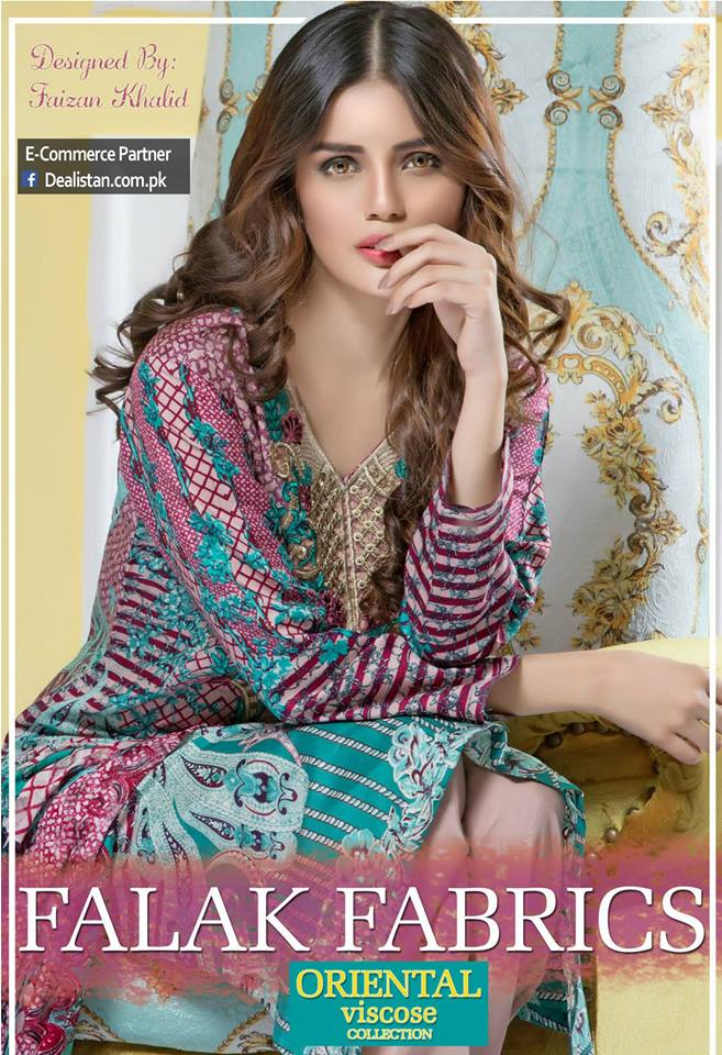 Falak Fabrics Classical embroideries Oreiental Viscos Collection 2017 (6)