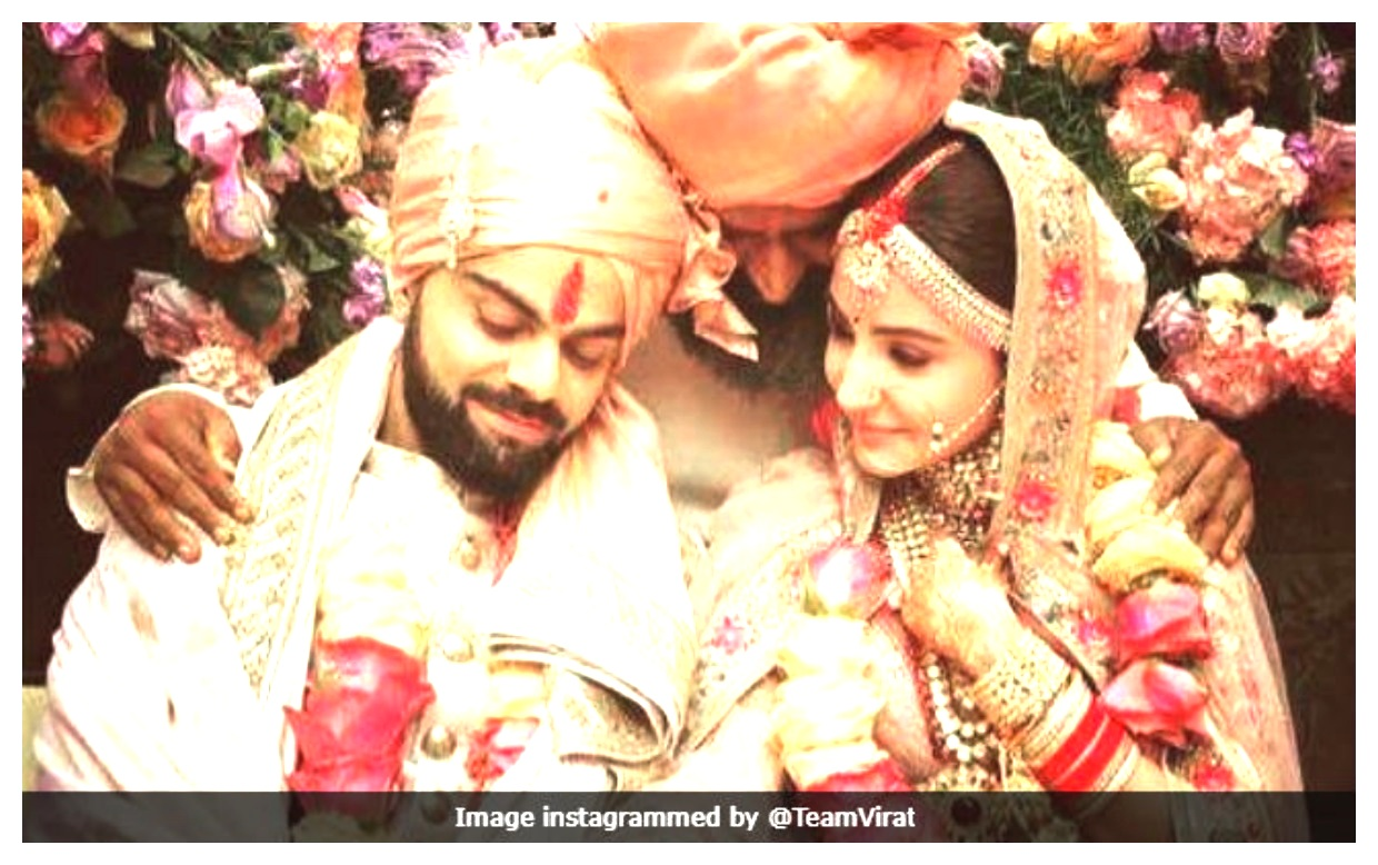 Dulhan Anushka Sharma And Virat Kohli as Dulha Wedding pis