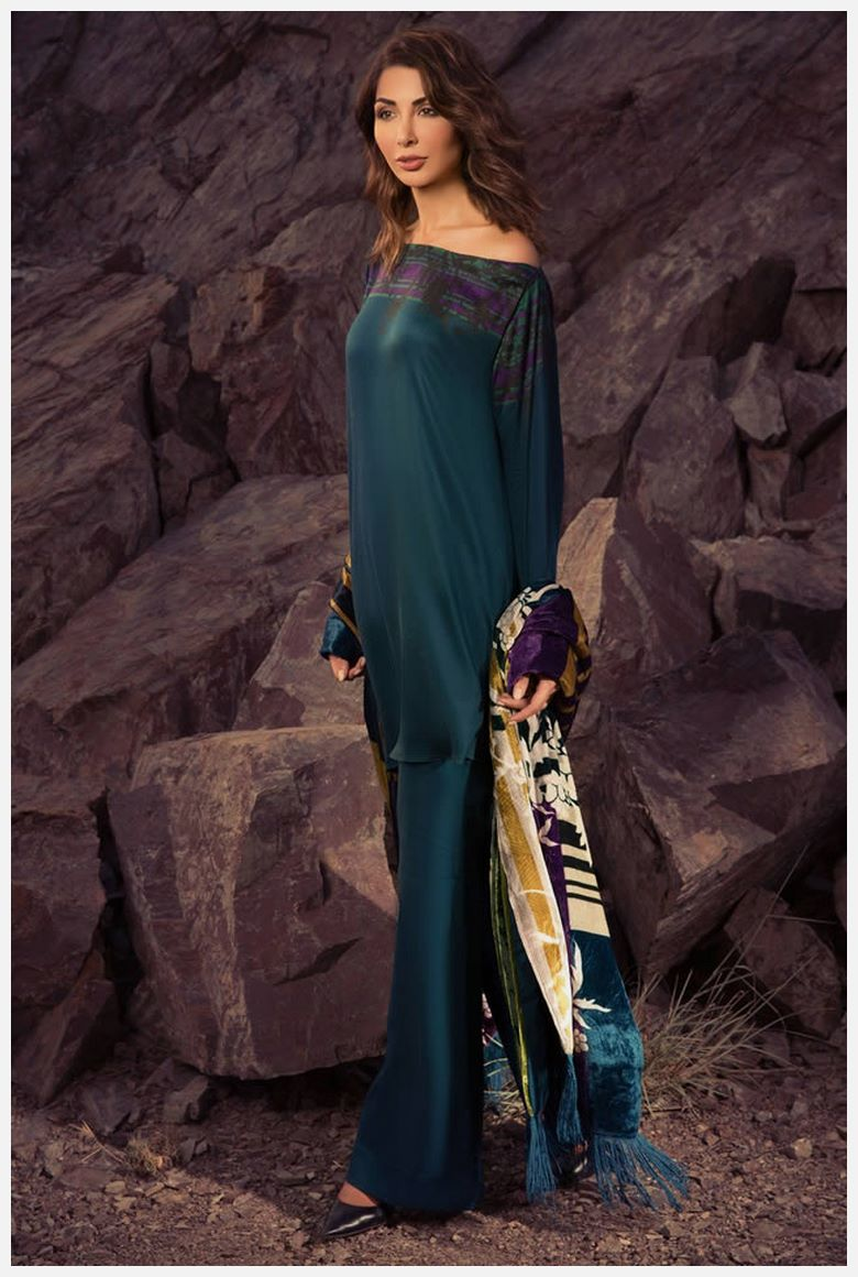 New AlKaram Velvet Dresses 2019