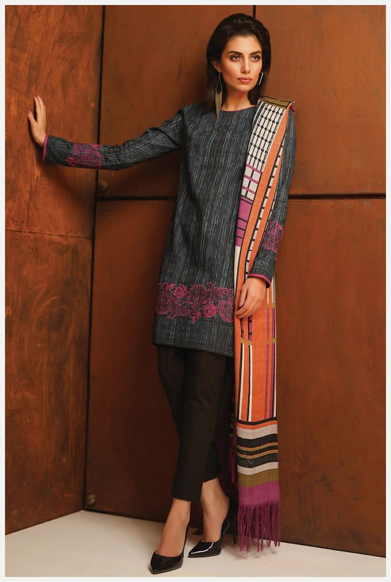 latest AlKaram Velvet Dresses 2019